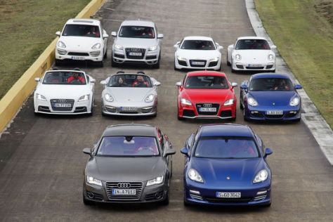 Markenduell Audi gegen Porsche