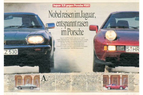 Jaguar XJS und Porsche 928 S