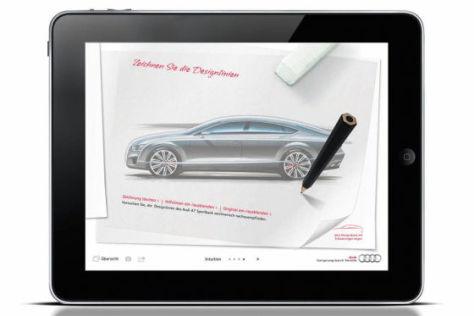 iPad mit Audi A7-App
