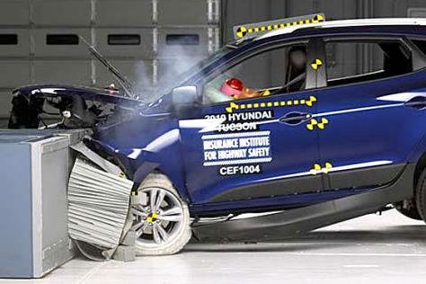 US-Crashtests: 66 Autos ausgezeichnet