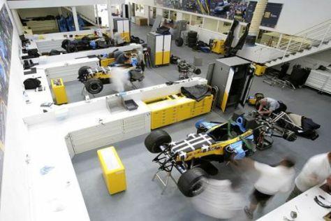 Im Renault-Werk in Enstone wird das Fahrzeug für die neue Saison gebaut