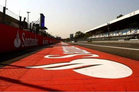 Santander ist mit seinem Schriftzug an vielen Stellen der Formel 1 präsent