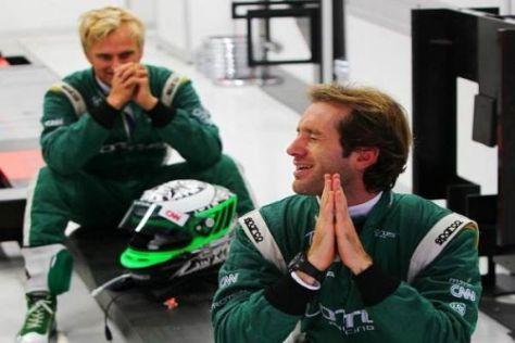 Hoffen auf ein besseres zweites Jahr bei Lotus: Trulli und Kovalainen