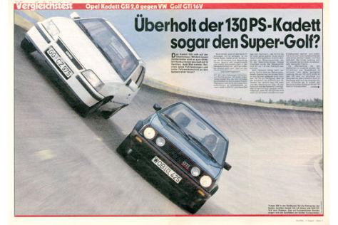 Kadett GSi 2,0 gegen Golf GTi 16V