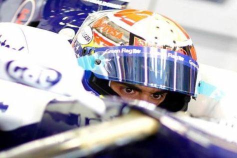 Maldonado durfte bei den Tests in Abu Dhabi Kontakt zum Williams aufnehmen