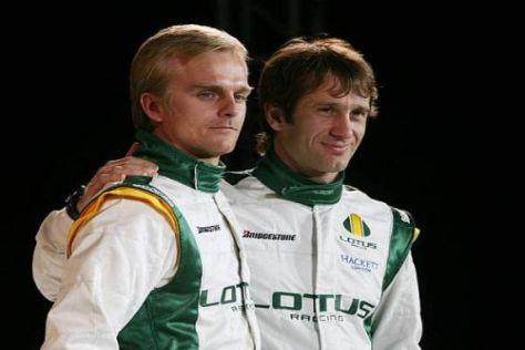 Heikki Kovalainen und Jarno Trulli kümmern sich vor allem um das Fahren