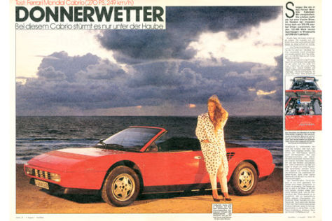 ferrari mondial cabrio im test auto bild archiv artikel 32 1986 auto bild klassik. Black Bedroom Furniture Sets. Home Design Ideas