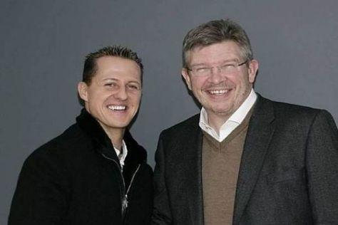 Michael Schumacher und Ross Brawn wollen 2011 wieder aufs Siegerpodest