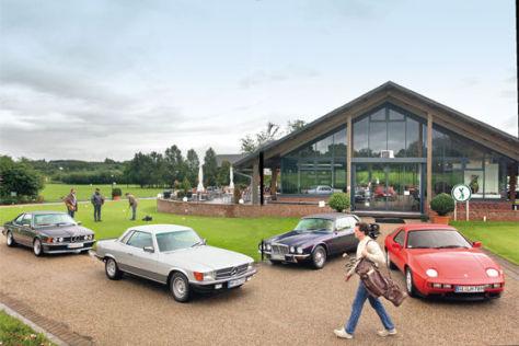 BMW 635 CSi, Jaguar XJ 5.3 C, Mercedes 450 SLC 5.0 und Porsche 928 S