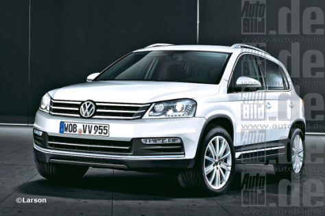 vorschau nach dem facelift 2011 kommt 2015 ein ganz neuer vw tiguan. Black Bedroom Furniture Sets. Home Design Ideas
