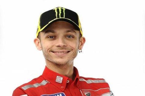 Valentino Rossi darf sich nun endlich in den Ducati-Farben präsentieren