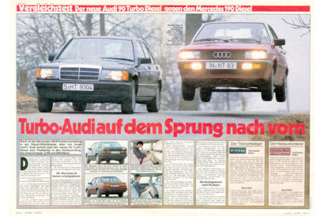 Audi 90 Turbo-Diesel Mercedes 190 D
