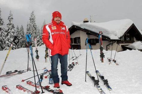 Reines Posing: Fernando Alonso kann im Moment nicht allzu viel Sport treiben