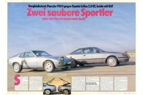 Vergleich: Porsche 924 S, Toyota Celica 2.0 GT