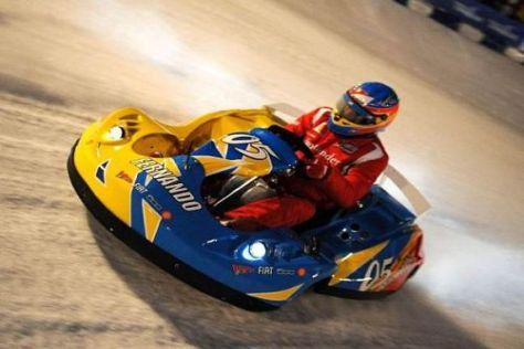 Fernando Alonso zeigte heiße Rennrunden auf eiskaltem Untergrund
