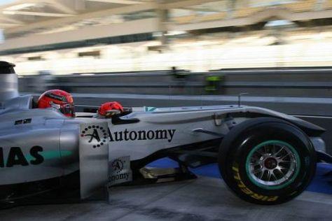 Michael Schumacher im Silberpfeil: 2010 verlief nicht unbedingt wunschgemäß...