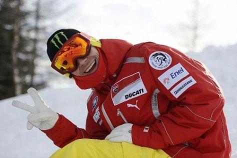 Valentino Rossi ist bester Dinge und hofft, rechtzeitig für die Tests wieder fit zu sein