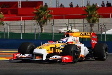 Im Jahr 2009 absolvierte Romain Grosjean sieben Rennen für Renault