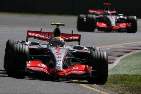 Lewis Hamilton fuhr bei seinem Debüt in Melbourne 2007 gleich auf das Podium
