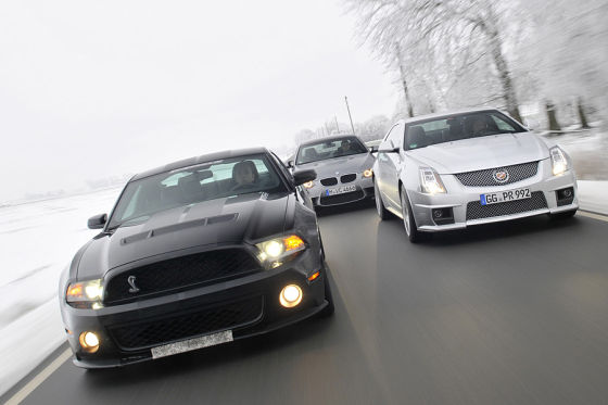 BMW M3 Cadillac CTS-V Ford Shelby GT 500