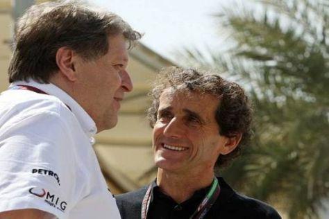 Alain Prost und Norbert Haug (l.): Warum ging Schumachers Comeback daneben?