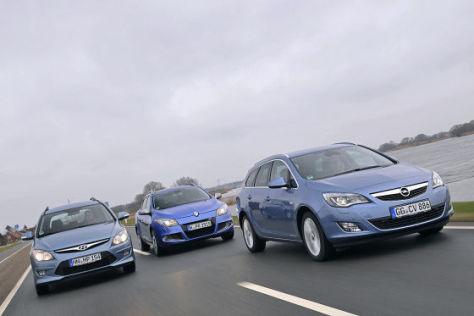 Hyundai i30 cw Opel Astra Sports Tourer Renault Mégane Grandtour