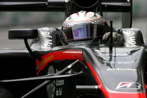 Christian Klien - hier im HRT-Cockpit - möchte weitere Renneinsätze bekommen