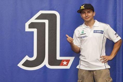 Jorge Lorenzo präsentiert sein neues Logo mit der Startnummer 1