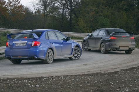 Subaru WRX STi Mitsubishi Lancer Evolution