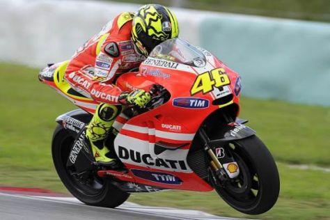 Ducati-Pilot Valentino Rossi hat weiterhin Probleme mit seiner Schulter