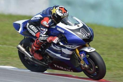 Yamaha war am zweiten Testtag mit neuer Lackierung unterwegs