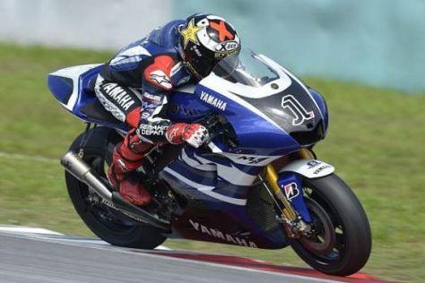 Weltmeister Jorge Lorenzo konnte Fortschritte mit der Yamaha M1 erzielen