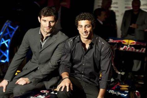 Webber und Ricciardo - die beiden Australier in der Red-Bull-Familie
