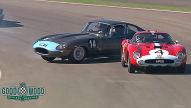 Jaguar-E-Type: Fast-Kollision in Goodwood