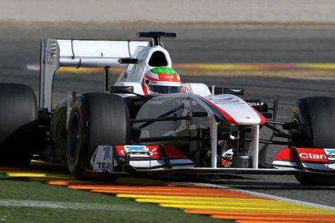Sergio Perez brummte dem C30 am letzten Tag mehr als 100 Runden auf