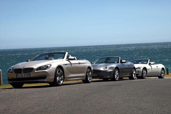 BMW 6er Cabrio Maserati GranCabrio Jaguar XKR Cabrio