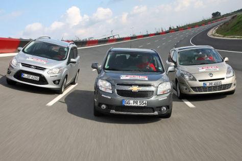 Chevrolet Orlando, Ford Grand C-Max und Renault Grand Scénic