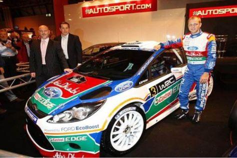Mikko Hirvonen und sein neues Arbeitsgerät, der Ford Fiesta RS WRC