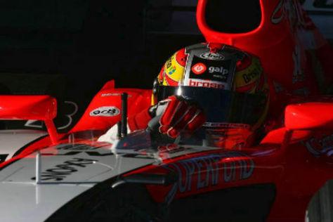 Tiago Monteiro griff 2006 für Midland (heute Force India) ins Lenkrad