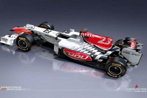 Der HRT F111 sieht ganz anders aus als sein Vorgänger