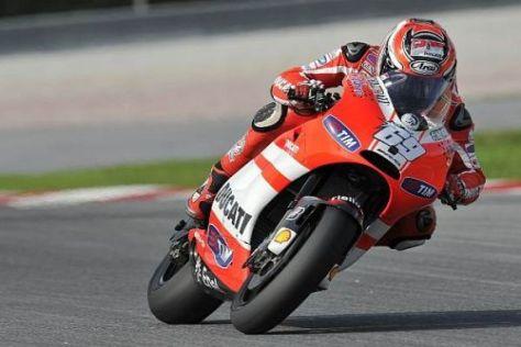 Nicky Hayden fuhr mit der Ducati in Sepang der Konkurrenz nur hinterher