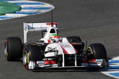 Für Sergio Perez und das Sauber-Team war Tag eins in Jerez ein voller Erfolg