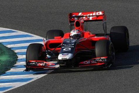 Timo Glock gab dem neuen MVR-02 in Jerez erstmals die Sporen