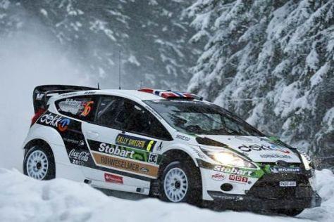 Mads Östberg liegt nach dem ersten Tag der Rallye Schweden in Führung