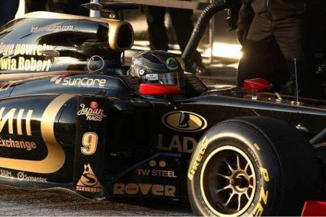 Vom Helmdesign her passt Nick Heidfeld schon perfekt in den Renault