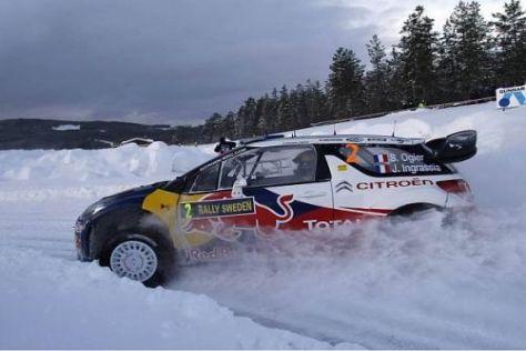 Sebastien Ogier hatte mit dem vielen Schnee teilweise zu kämpfen