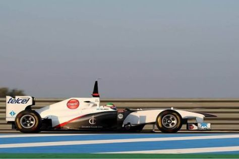 Der Sauber Club One fährt mit: Der neue Rennwagen ist mit dem Logo versehen