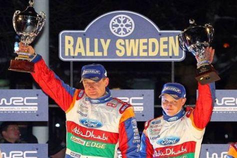 Mikko Hirvonen (r.) hofft, dass sein Aufwärtstrend nach dem Sieg anhält