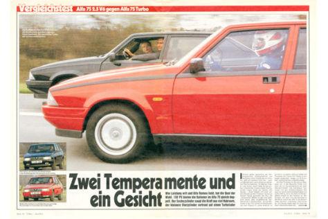 Alfa 75 2.5 V6 gegen Alfa 75 Turbo
