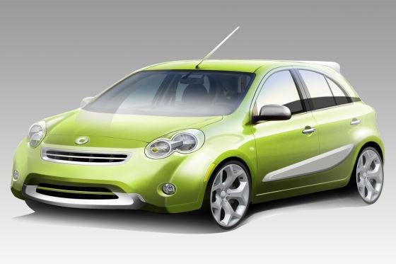 Abgeblasen: Penske wollte noch 2011 einen fünftürigen Smart auf Nissan Micra-Basis starten.